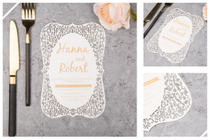 Flat Laser Cut Invitations
