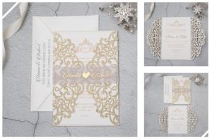 Glitter Paper Invitations